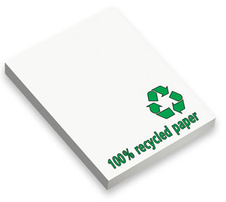 Environmental friendly sticky notes